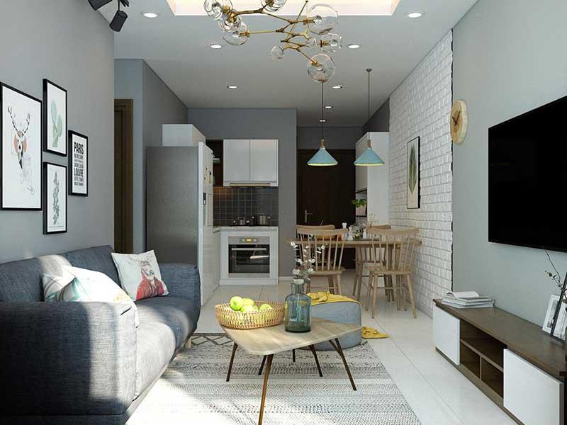 Phòng khách căn hộ Alva Plaza 56m2