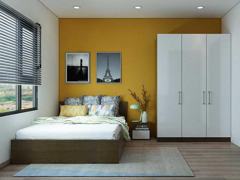 Phòng ngủ căn hộ Alva Plaza 56m2
