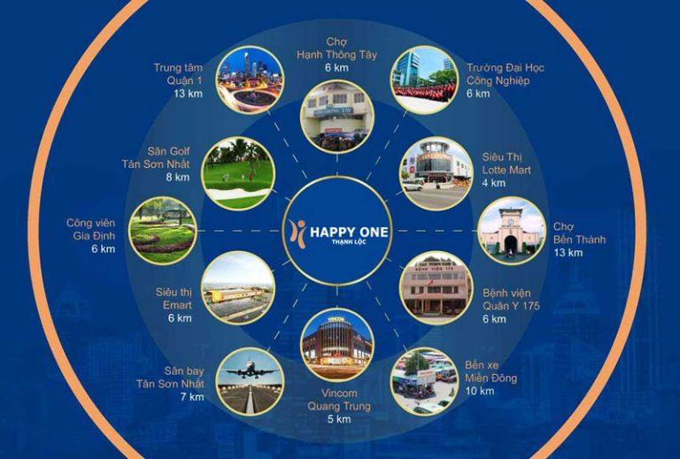 Liên Kết Vùng Dự Án Happy One Premier Thạnh Lộc Quận 12