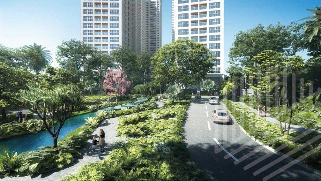 Hồ nước công viên dự án Anderson Park Thuận An Bình Dương
