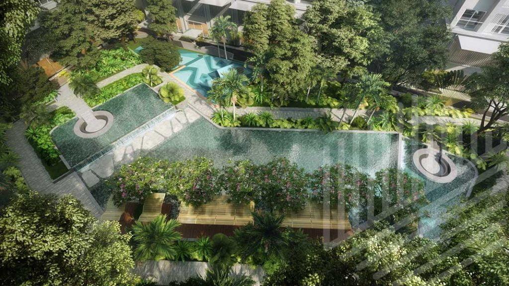 View hồ điều hòa dự án Anderson Park Bình Dương
