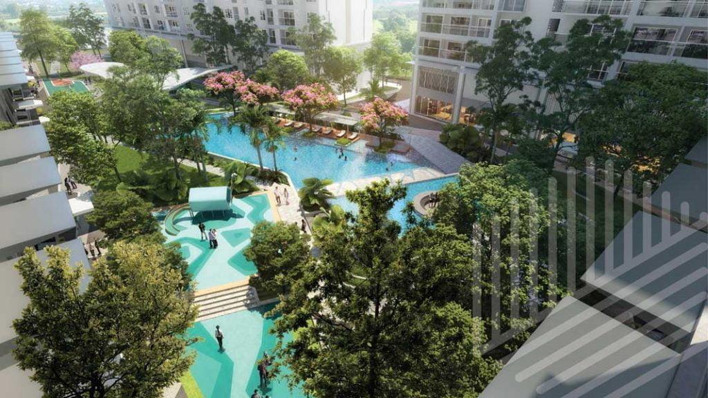 View nội khu Anderson Park Thuận An Bình Dương