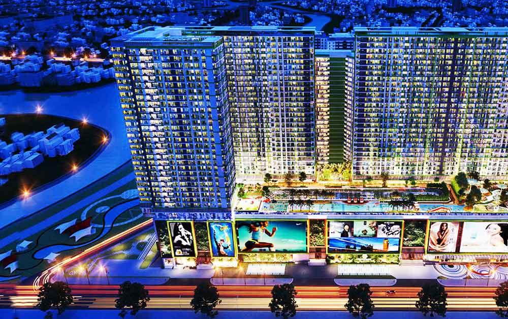 Cảnh đêm ở Topaz Elite Quận 8 - Chủ đầu tư Vạn Thái Land