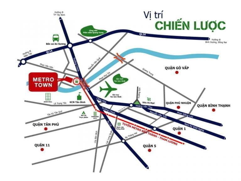 Vị trí Metro Town - Khu dân cư Tân Thới Nhất