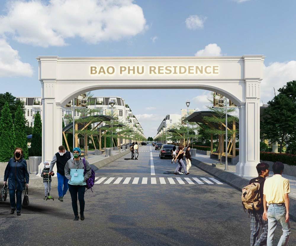 Cổng chào nhà phố thương mại Bảo Phú Quận 12