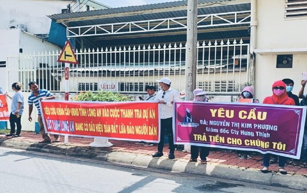 Dự án Hoàng Thịnh Cát Tường bị người dân biểu tình phản ánh