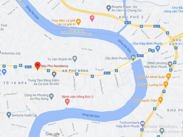 Vị trí Bảo Phú Residence
