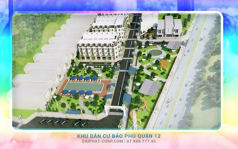 Dự án nhà phố Bảo Phú Quận 12 với đa dạng tiện ích